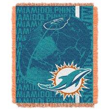 NFL Miami Dolphins Triple Woven Jacquard Throw Blanket