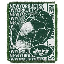 NFL New York Jets Triple Woven Jacquard Throw Blanket
