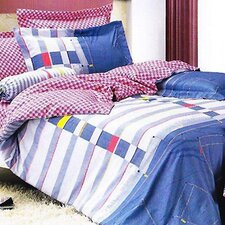 Jean 4 Piece Twin Duvet Cover Set