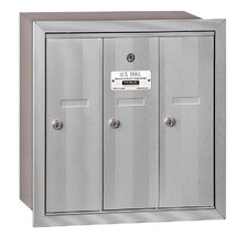 3 Door Front Load Vertical Mail Center