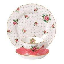 Cheeky Pink Vintage Teacup Set (Set of 3)