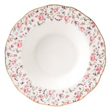 Rose Confetti Formal Vintage Rim Soup and Salad Bowl