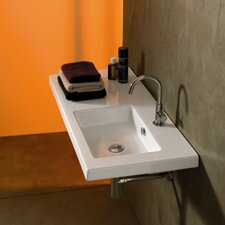 "Condal Ceramic 39"" Wall Mounted Sink with Overflow"