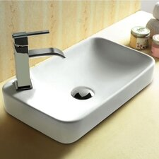 Ceramica Ceramic Self Rimming Bathroom Sink