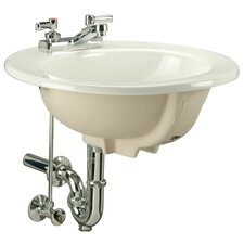 "Countertop Self Rimming Bathroom Sink with Faucet Center 8""or 4"