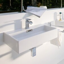 "Quarelo Ceramic 19.7"" Wall mount Bathroom Sink with Overflow"