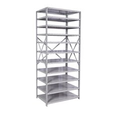 "MedSafe Antimicrobial Hi-Tech 87"" H 11 Shelf Shelving Unit Starter"