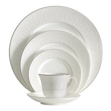 Ballet Icing Pearl Bone China 5 Piece Place Setting, Service for 1