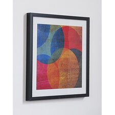Neon Circle Framed Graphic Art
