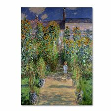 """""""The Artist's Garden at Vetheuil"""" by Claude Monet Painting Print on Canvas"""