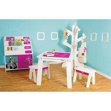 Chalk 3 Piece Table & Bench Set
