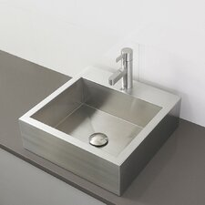 Crofton Rectangular Vessel Bathroom Sink with Overflow
