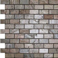 "1"" x 2"" Slate Mosaic Tile in Copper"