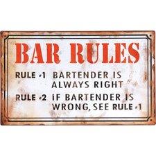 bar rules wall dcor - Bar Wall Decor