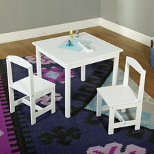 Hayden Kids 3 Piece Square Table and Chair Set