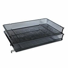 mesh stackable side loading tray set of 2