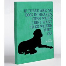 Doggy Decor Heaven 1 Graphic Art on Wrapped Canvas