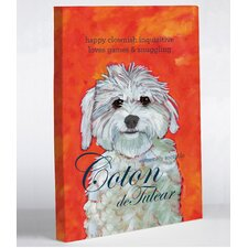 Doggy Decor Coton 1 Painting Print on Wrapped Canvas
