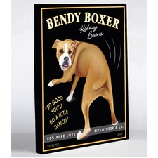Doggy Decor Bendy Boxer Graphic Art on Wrapped Canvas