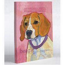 Doggy Decor Beagle 1 Painting Print on Wrapped Canvas