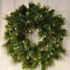 Pre-Lit Incandescent Blended Pine Wreath