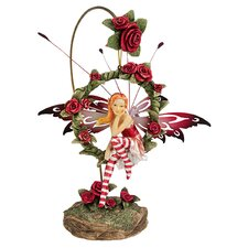 Radiant Rose Dangling Fairy Figurine