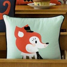 Mr. Frank Fox Cotton Throw Pillow