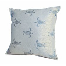 Coastal Sea Turtle Throw Pillow