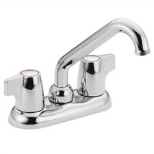 Chateau Deck Mounted Laundry Faucet with Double Mini Blade Handle