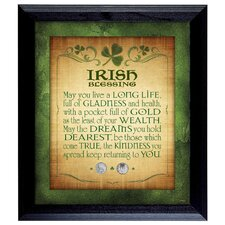 Irish Blessing with 2 Three Pence Framed Memorabilia