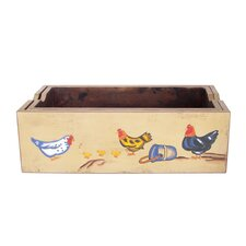 Farm Art Wood Planter Box (Set of 2)