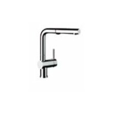 Linus Single Handle Deck Mounted Standard Kitchen Faucet with Pull Out and Dual Spray