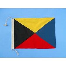 Letter Z Cloth Nautical Alphabet Flag Wall Décor