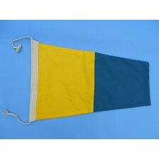Number 5 Nautical Cloth Signal Flag Wall Décor