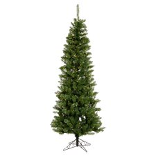Salem Pencil Pine 6.5' Artificial Christmas Tree with 250 Clear Lights & Stand