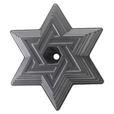 Platinum Star of David Cake Bundt