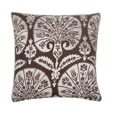 """Batik Fan 18"""" Cotton Throw Pillow"""