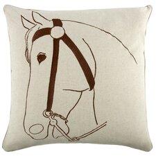 "Thoroughbred 22"" Linen Throw Pillow"