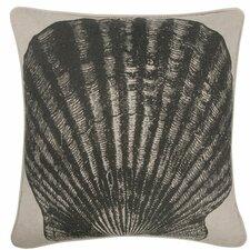 "Scallop 18"" Linen Throw Pillow"
