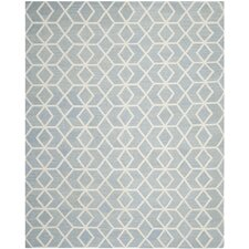 Dhurries Blue & Ivory Area Rug