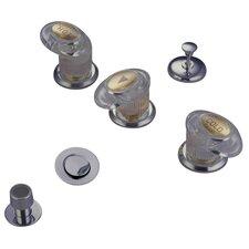 Triple Triple Handle Vertical Spray Bidet Faucet