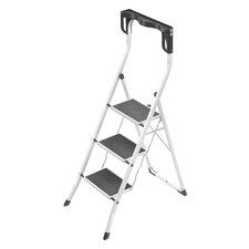 3-Step Steel Safety Plus Step Stool with 330 lb. Load Capacity