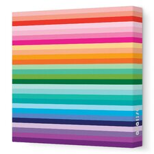 Pattern Sunset Stretched Canvas Art