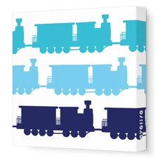 Things That Go Trains Stretched Canvas Art