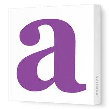 Letter Lower Case Stretched Canvas Art