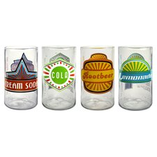 Upcycle Fun in the Sun Juice Glass (Set of 4)