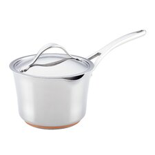 Nouvelle Copper Stainless Steel 3.5-qt. Saucepan with Lid