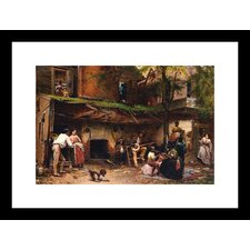 Old Kentucky Home, African American Life in the South Framed Painting Print