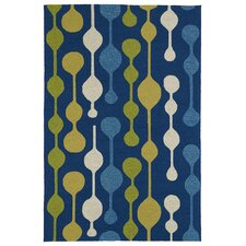 Home and Porch Blue Indoor/Outdoor Area Rug