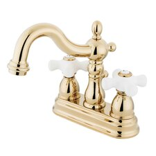 Heritage Double Handle Centerset Bathroom Sink Faucet with ABS Pop-Up Drain